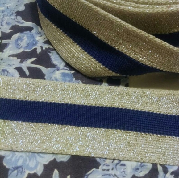 💰 flash sale 💰 5 yds blue & silver webbing